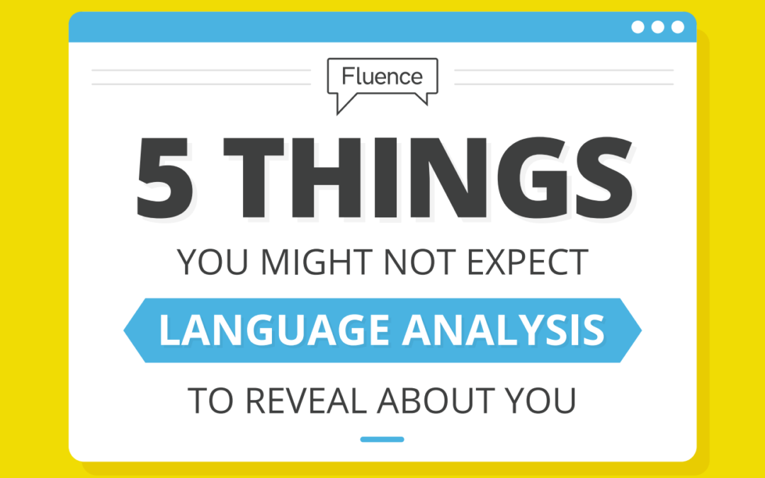 5 things that language analysis can reveal about you